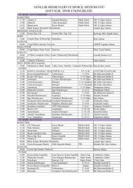 28 Mart - 03 Nisan 2015 HAFTALIK BÜLTEN.pdf