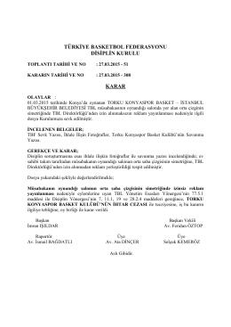 karar 308 torku konyaspor basket – istanbul büyükşehir belediyesi