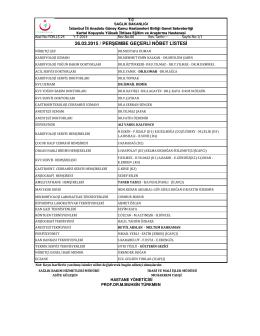 26.03.2015 - Kartal Koşuyolu Yüksek İhtisas Eğitim ve Araştırma