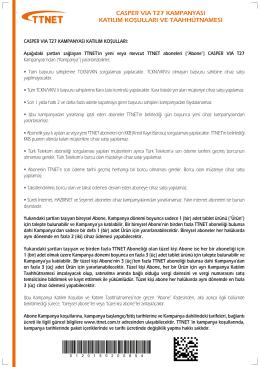 casper vıa t27 kampanyası katılım koşulları ve taahhütnamesı