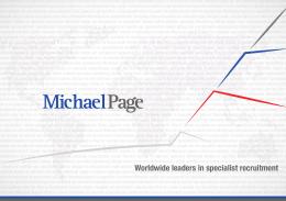 Unternehmensbroschüre - Michael Page Deutschland
