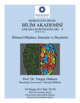 BİLİM AKADEMİSİ - Ankara Üniversitesi Fizik Mühendisliği Bölümü