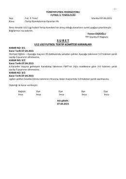 u12 ligi tertip komitesi kararı