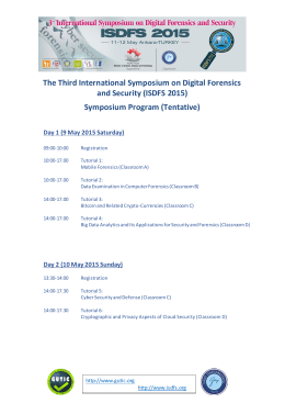 Symposium Program (Tentative)