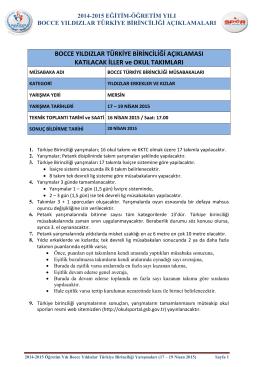 2014-2015 bocce yıldızlar türkiye birinciliği