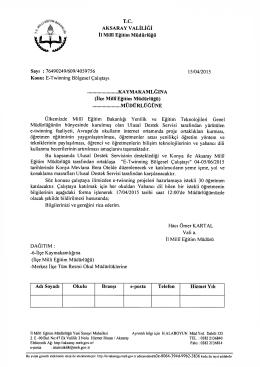 Resmi Yazı İçin TIKLAYINIZ - Aksaray Milli Eğitim Müdürlüğü