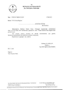 TC REYHANLI KAYMAKAMLIGI Bakanhgirmz Sinav