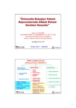 """""""Üniversite Buluşları Patent Başvurularında Dikkat Etmesi Gereken"""