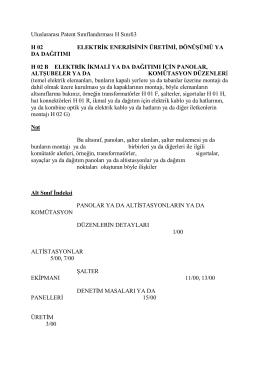 Uluslararası Patent Sınıflandırması H Sınıfı3 H 02