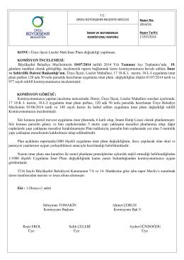 35. komisyon raporu - Ordu Büyükşehir Belediyesi
