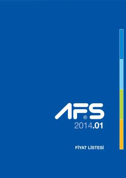 AFS 2014 Fiyat Listesi