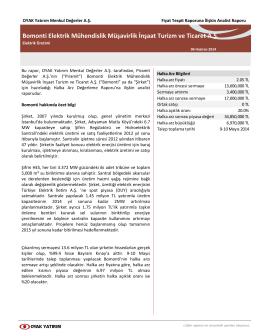Bomonti Elektrik Mühendislik Müşavirlik İnşaat Turizm ve Ticaret A.Ş.