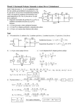 s-alanında devre çözümleme