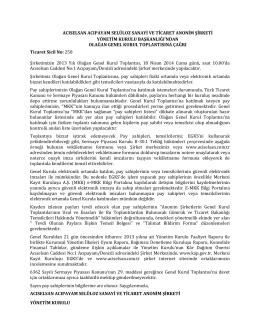 2013 Yılı Olağan Genel Kurul Çağrı (PDF)