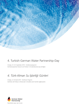 Turkish-GWP-Day Programm