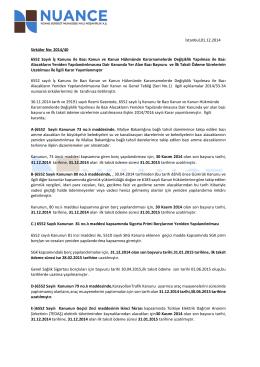 2014/7016 Sayılı Bakanlar Kurulu Kararı