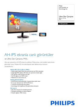 274E5QHAB/00 Philips LCD monitör ve SmartImage lite
