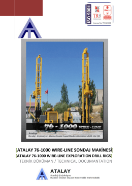 ATALAY 76-1000 WIRE-LINE EXPLORATION DRILL