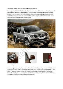 Volkswagen Amarok ve yeni Amarok Canyon 2014 incelemesi
