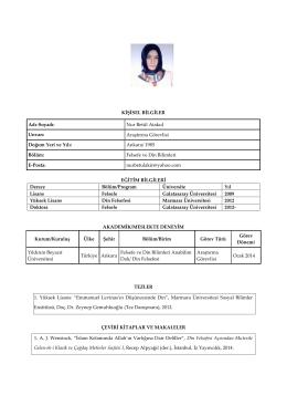 Ar. Gör. Nur Betül Atakul - Yıldırım Beyazıt Üniversitesi
