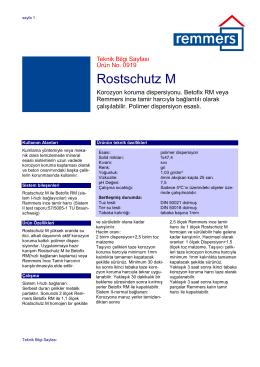 Rostschutz M teknik bilgi