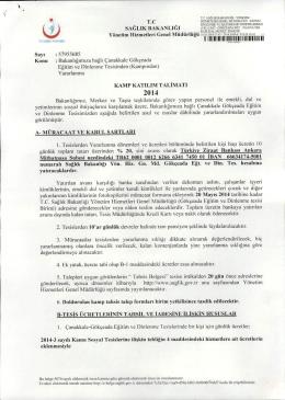 Bakanlığımıza Bağlı Çanakkale Gökçeada Eğitim ve Dinlenme