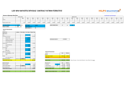 1,00 MW KAPASİTELİ BİYOGAZ SANTRALİ YATIRIM FİZİBİLİTESİ