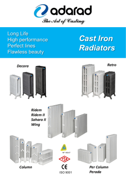 Cast Iron Radiators - ADARAD Döküm Ürünleri A.Ş.