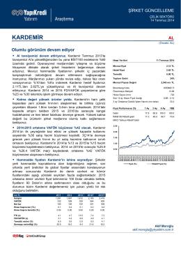 KARDEMİR - Yapı Kredi Yatırım