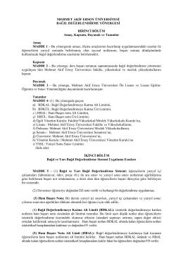 Bağıl Değerlendirme Yönergesi (PDF)