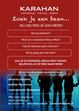 wij helpen je aan werk! - KARAHAN Voorlichting - Werving