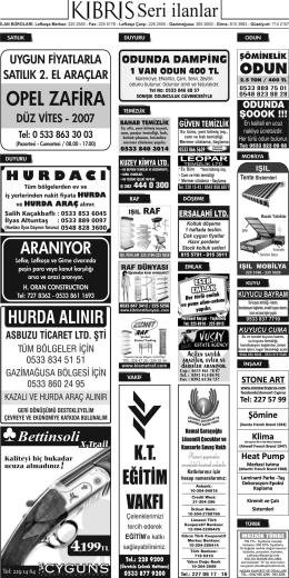 OPEL ZAFiRA - Kıbrıs Gazetesi