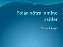Tıp_Ders3_Polar ve nötral amino asitler
