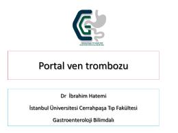 Portal ven Trombozu, Dr. İbrahim Hatemi