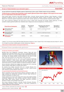 Yatırım Fikirleri - AKF 81