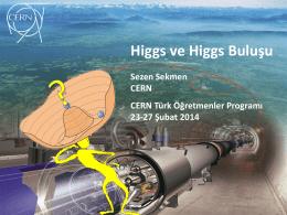 Higgs ve Higgs Buluşu - Indico