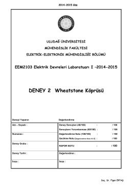 EDL I_Deney_2_2014-15 - Elektrik
