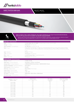 koaksiyel kablolar / coaxıal cables harici telefon kabloları external