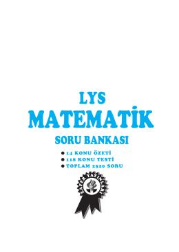 LYS MAT. S.B - Zafer Yayınları