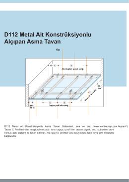 Teknika Yapı, Asma Tavan, Metal Asma Tavan , Taşyünü Asma
