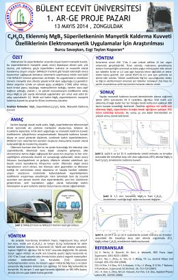 C4H6O5 Eklenmiş MgB2 Süperiletkeninin Manyetik Kaldırma