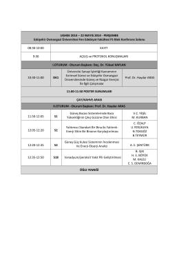 UGHEK 2014 - Osmangazi Üniversitesi
