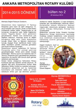 Bülten 2 - Ankara Metropolitan Rotary Kulübü