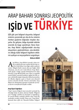 ışid ve türkiye - Sabancı Üniversitesi