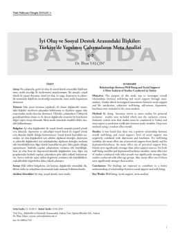 Dosya Yükle - Türk Psikiyatri Dergisi