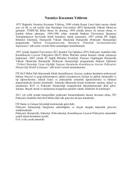 Nazmiye Kocaman Yıldırım - III. Uluslararası ve VII. Ulusal Psikiyatri