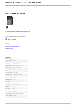 Masaüstü Bilgisayar : DELL OPTIPLEX 3020MT