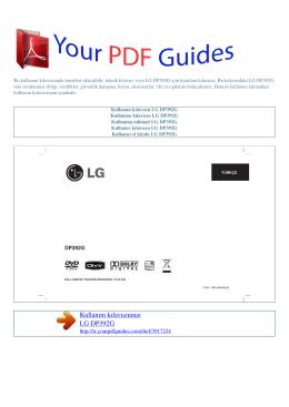 Kullanma talimati LG DP392G