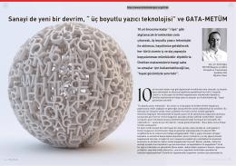 """"""" üç boyutlu yazıcı teknolojisi"""" ve GATA"""