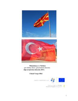 Makedonya ve Türkiye geri dönüş süreci, göçmenlerin